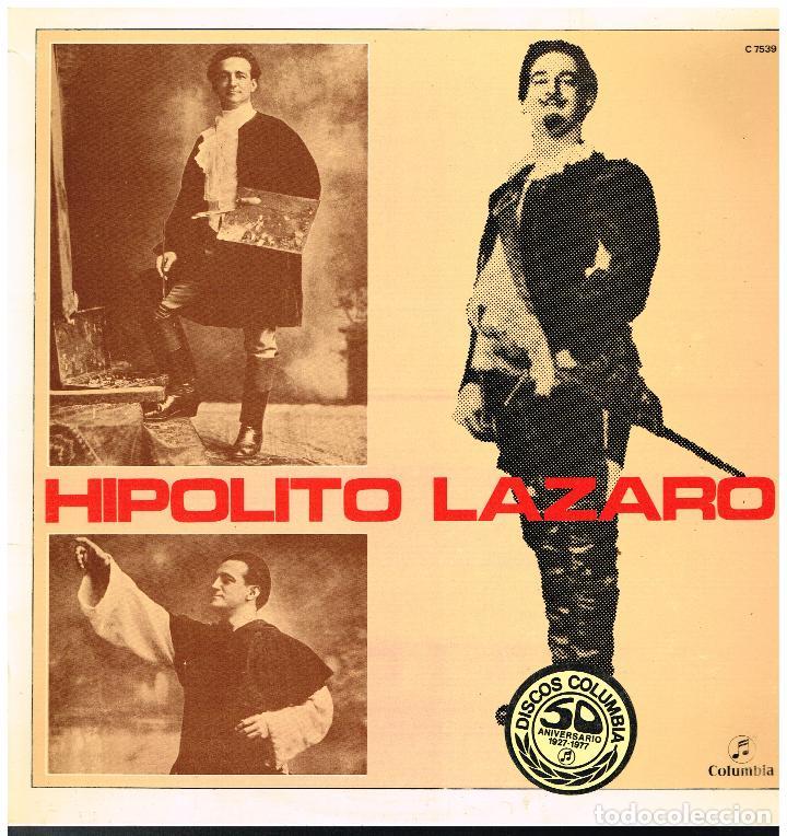 HIPOLITO LAZARO - HIPOLITO LAZARO - LP 1972 (Música - Discos - LP Vinilo - Clásica, Ópera, Zarzuela y Marchas)