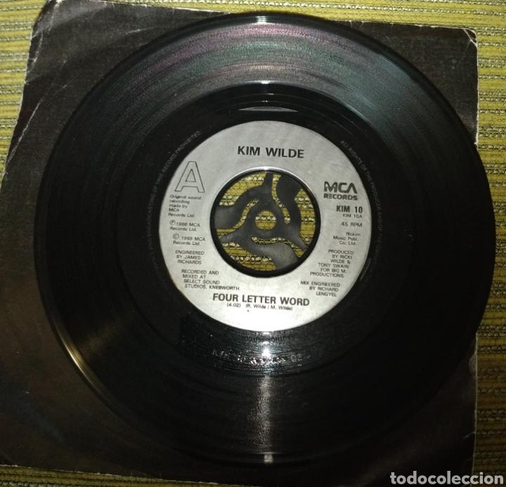 KIM WILDE - FOUR LETTER WORD. SOLO DISCO (Música - Discos de Vinilo - Singles - Pop - Rock Extranjero de los 80)