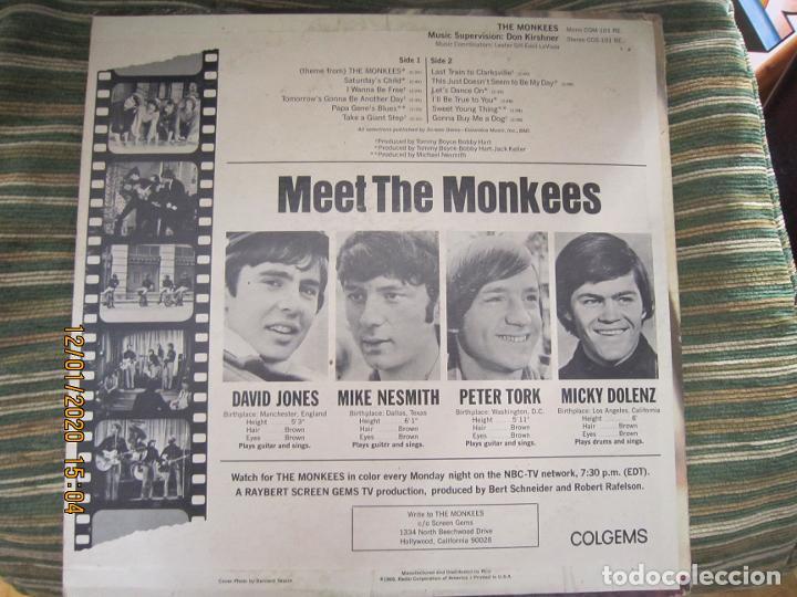 Discos de vinilo: THE MONKEES - MEET THE MONKEES LP - ORIGINAL U.S.A. - COLGEMS RECORDS 1966 - MONOAURAL - Foto 2 - 190875870