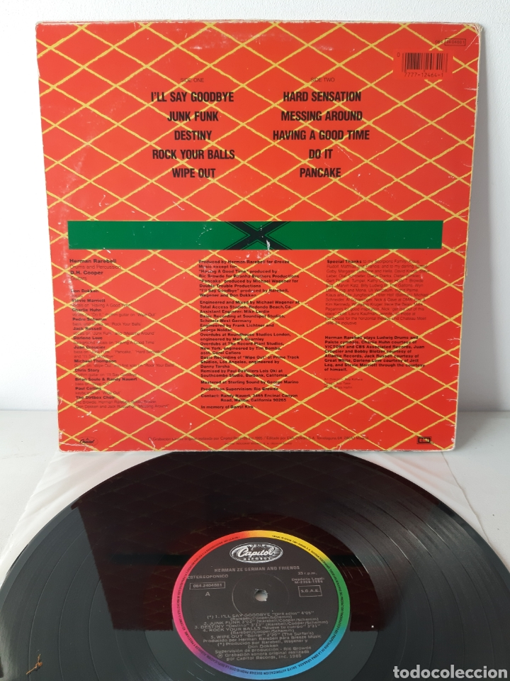 Discos de vinilo: HERMAN ZE GERMAN AND FIRENDS. BATERIA DE SCORPIONS. CAPITOL. 1986. ESPAÑA. - Foto 2 - 190900397