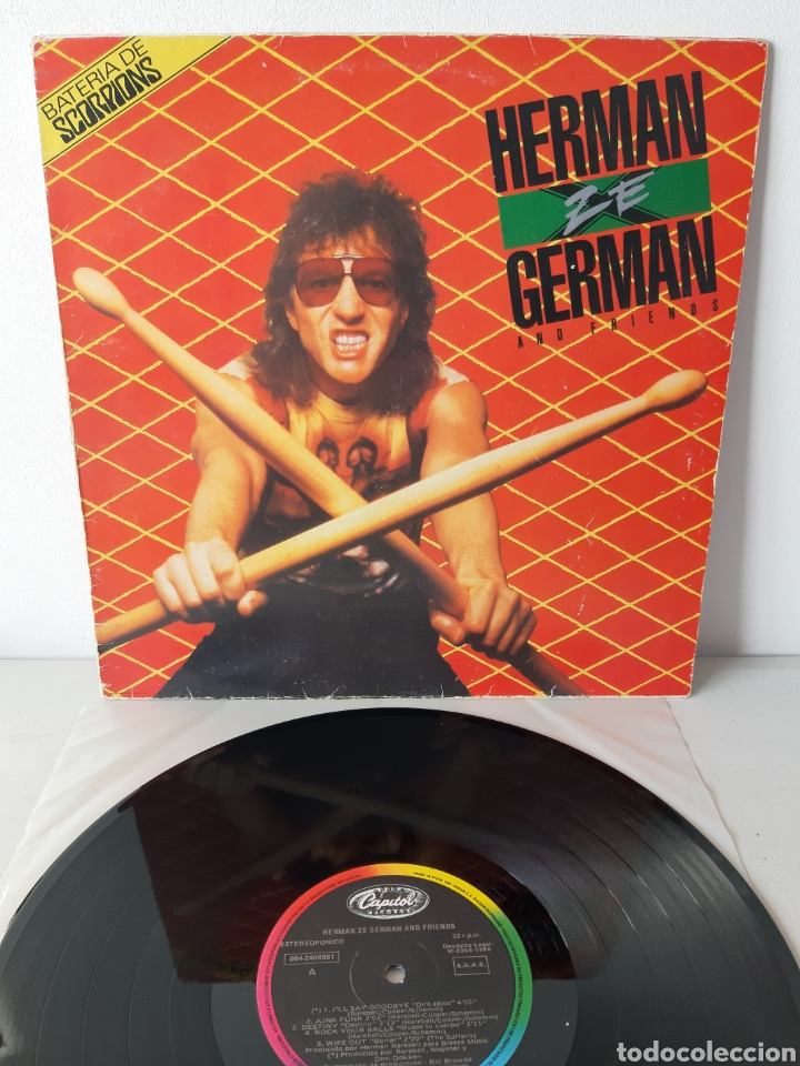 HERMAN ZE GERMAN AND FIRENDS. BATERIA DE SCORPIONS. CAPITOL. 1986. ESPAÑA. (Música - Discos - LP Vinilo - Pop - Rock - New Wave Extranjero de los 80)