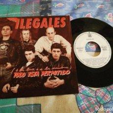 Discos de vinilo: ILEGALES TODO ESTA PERMITIDO ( A LA LUZ O A LA SOMBRA ) SINGLE VINILO PROMO 1990 JORGE MARTINEZ. Lote 190916056