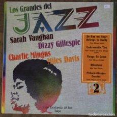 Discos de vinilo: LOS GRANDES DEL JAZZ. GRAN ENCICLOPEDIA DEL JAZZ SARPE, Nº 2. 1980.. Lote 190921463