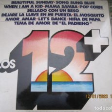 Discos de vinilo: LOS 12 + VOL. 2 LP - ORIGINAL ESPAÑOL - MOVIEPLAY RECORDS 1973 - ESTEREO -. Lote 190928005