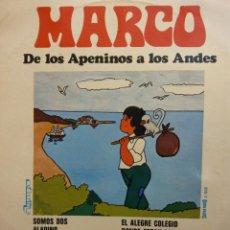 Discos de vinilo: MARCO. DE LOS APENINOS A LOS ANDES. OLYMPO STEREO. Lote 190928862
