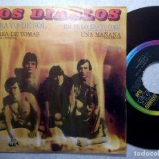 Discos de vinilo: LOS DIABLOS - UN RAYO DE SOL - EP MEXICANO 1970 - ODEON. Lote 190977950