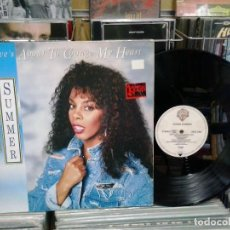Discos de vinilo: LMV - DONNA SUMMER. LOVE'S ABOUT TO CHANGE MU HEART. WARNER BROS RECORDS 1989, REF. U 7494 T. Lote 190987596