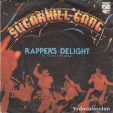 Discos de vinilo: SUGARHILL GANG - RAPPERS DELIGHT - SINGLE ESPAÑOL DE VINILO OLD SKOOL RAP HIP HOP #. Lote 190992458
