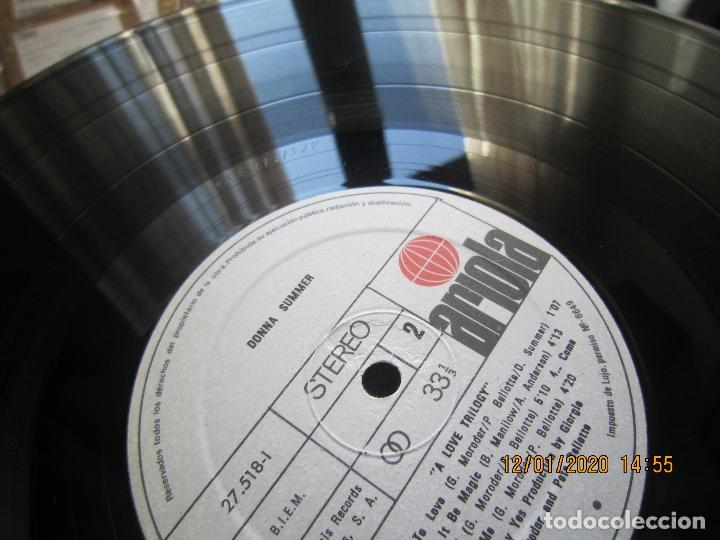 Discos de vinilo: DONNA SUMMER - A LOVE TRILOGY LP - ORIGINAL ESPAÑOL - ARIOLA RECORDS 1976 - - Foto 10 - 190996938