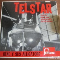 Discos de vinilo: RENE & HIS ALLIGATORS - TELSTAR + 3 ******** RARO EP ESPAÑOL 1963. Lote 191013206