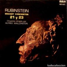 Discos de vinilo: RUBINSTEIN*,ALFRED WALLENSTEIN_–MOZART CONCIERTOS 21 Y 23. Lote 191039303