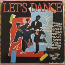 Discos de vinilo: LET'S DANCE LP KINKS, OMD, GALAXY, ROBERT PALMER ETC. Lote 191040340