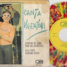 Discos de vinil: LOS CHIRIPITIFLAUTICOS - CANTA VALENTINA - SINGLE DE VINILO DE COLORES. Lote 191042128