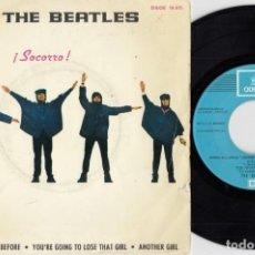 Discos de vinilo: THE BEATLES - HELP ¡ SOCORRO ! - EP DE VINILO EDICION ESPAÑOLA . Lote 191043652
