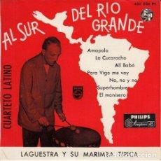 Discos de vinilo: LAGUESTRA Y SU MARIMBA TIPICA - LA CUCARACHA - EP DE VINILO EDICION ESPAÑOLA . Lote 191044663