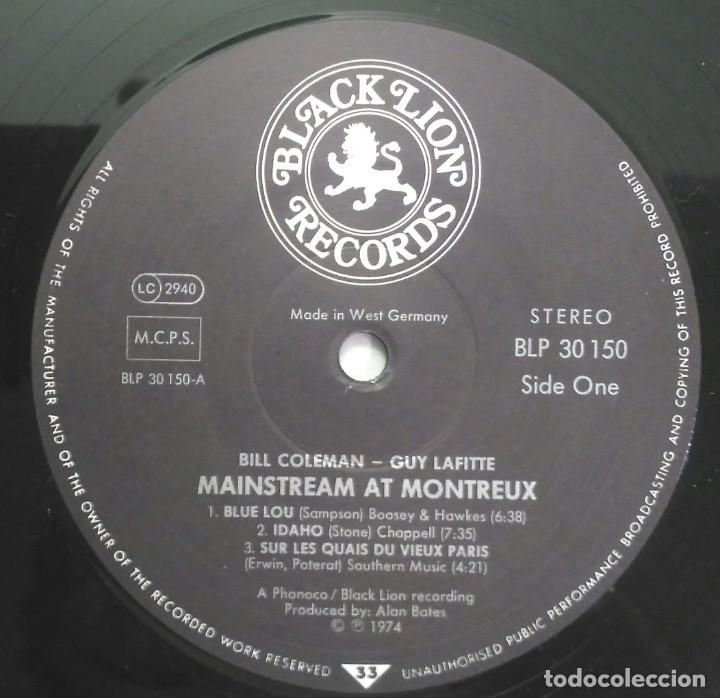 Discos de vinilo: Bill Coleman & Guy Lafitte – Mainstream At Montreux UK 1973 BLACK LION Records - Foto 3 - 190875678