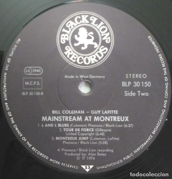 Discos de vinilo: Bill Coleman & Guy Lafitte – Mainstream At Montreux UK 1973 BLACK LION Records - Foto 4 - 190875678