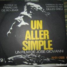 Discos de vinilo: UN ALLER SIMPLE B.S.O. - ORIGINAL FRANCES - BARCLAY RECORDS 1971 - MUY NUEVO (5) DIFICIL. Lote 191081891
