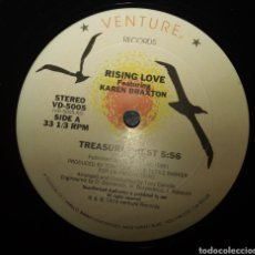Discos de vinilo: RISING LOVE FEATURING KAREN BRAXTON - TREASURE CHEST. Lote 191083016