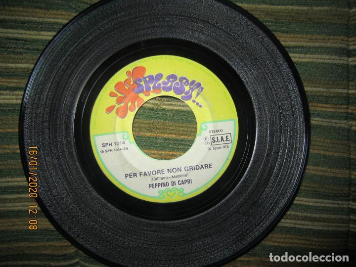 Discos de vinilo: PEPPINO DI CAPRI - UN GRANDE AMORE E NIENTE PIU SINGLE ORIGINAL ESPAÑOL - SAN REMO 73 - Foto 4 - 191083493