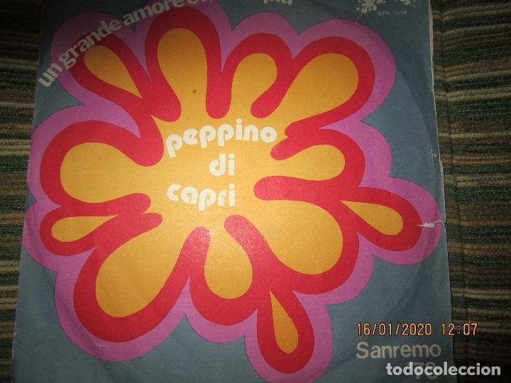Discos de vinilo: PEPPINO DI CAPRI - UN GRANDE AMORE E NIENTE PIU SINGLE ORIGINAL ESPAÑOL - SAN REMO 73 - Foto 5 - 191083493