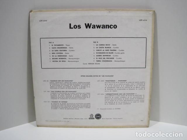 Discos de vinilo: LP VINILO LOS WAWANCO. CANTA HERNÁN ROJAS. 14 CANCIONES. BESAME MORENITA, LA CAMISA BLANCA. - Foto 2 - 191093210