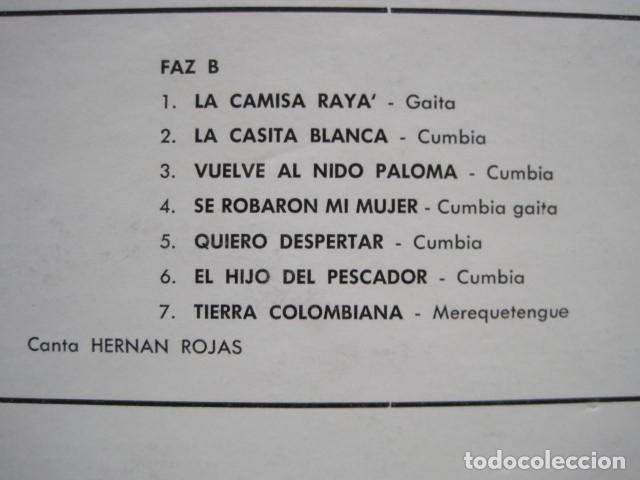 Discos de vinilo: LP VINILO LOS WAWANCO. CANTA HERNÁN ROJAS. 14 CANCIONES. BESAME MORENITA, LA CAMISA BLANCA. - Foto 4 - 191093210