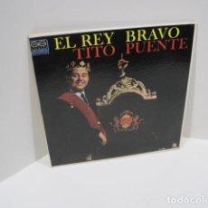 Discos de vinilo: LP VINILO EL REY BRAVO, TITO PUENTE. 11 CANCIONES. OYE COMO VA, AFRICA HABLA, TOKIO DE NOCHE.. Lote 191096756