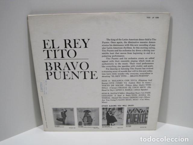 Discos de vinilo: LP VINILO EL REY BRAVO, TITO PUENTE. 11 CANCIONES. OYE COMO VA, AFRICA HABLA, TOKIO DE NOCHE. - Foto 2 - 191096756