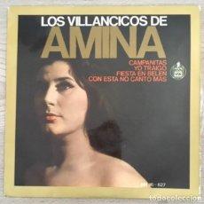 Discos de vinilo: LOS VILLANCICOS DE AMINA . Lote 191106831