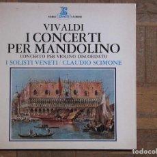 Discos de vinilo: VIVALDI. I CONCERTO PER MANDOLINO. ERATO, STU 70545. ESPAÑA, 1971. GATEFOLD.. Lote 191115087