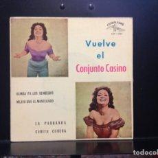 Discos de vinil: CONJUNTO CASINO - RUMBA PA LOS RUMBEROS + 3 RARO EP DE 1961 SPAIN. NUEVO A ESTRENAR. Lote 221365010