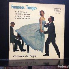Discos de vinilo: VIOLINES DE PEGO - JALOUISE + 3 RARO EP DE 1962 SPAIN. NUEVO A ESTRENAR (NEW). Lote 191130935