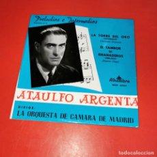 Discos de vinilo: ATAULFO ARGENTA&ORQUESTA CAMARA MADRID LA TORRE DEL ORO/EL TAMBOR DE GRANADEROS EP 1968. Lote 191140680