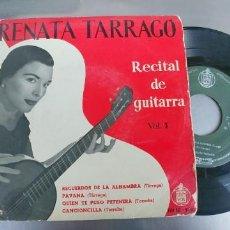 Discos de vinilo: RENATA TARRAGO-EP RECITAL DE GUITARRA-VOL. 1. Lote 191157657