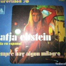 Dischi in vinile: KATJA EBSTEIN - SIEMPRE HAY ALGUN MILAGRO SINGLE ORIGINAL ESPÑAOL EUROVISION 70 - LIBERTY 1970 . Lote 191158946