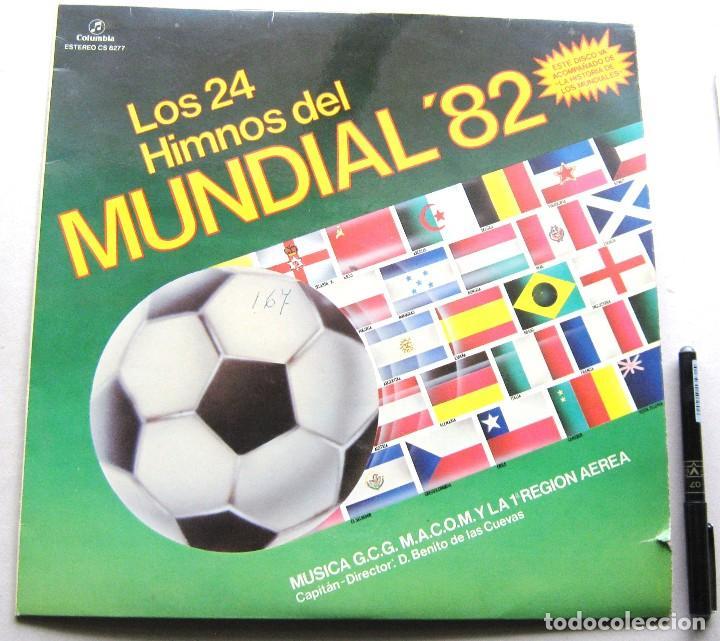LP DISCO VINILO LOS 24 HIMNOS DEL MUNDIAL FUTBOL ESPAÑA 82 COLUMBIA ESTEREO ORIGINAL 31X31 (Música - Discos - Singles Vinilo - Bandas Sonoras y Actores)