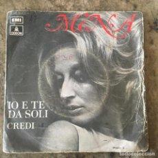 Discos de vinil: MINA - IO E TE DA SOLI / CREDI . SINGLE. 1971 ODEON . Lote 191174023