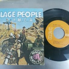 Discos de vinilo: VILLAGE PEOPLE-SINGLE Y M C A . Lote 191174252