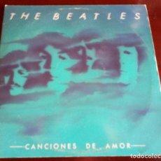 Disques de vinyle: THE BEATLES - CANCIONES DE AMOR - DOBLE 2.LP.S - 1982 - CON ENCARTES. Lote 191174631