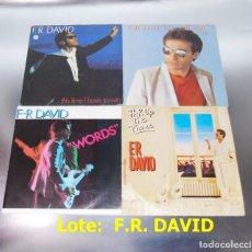 Discos de vinilo: F.R.DAVID --- LOTE DE 4 VINILOS. Lote 188744392