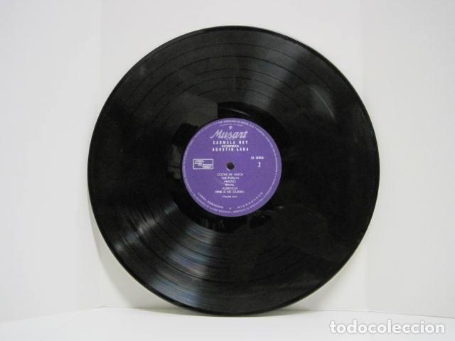 Discos de vinilo: LP VINILO. CARMELA REY, AGUSTÍN LARA. 12 CANCIONES. MÚSICA MEXICANA. VOLVERAS, AZUL, GOTAS DE AMOR. - Foto 6 - 191202910