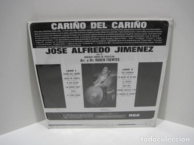 Discos de vinilo: LP VINILO CARIÑO DEL CARIÑO. JOSE ALFREDO JIMENEZ. 12 CANCIONES. 1968. EL PERRO NEGRO, UN MUNDO RARO - Foto 2 - 191205881