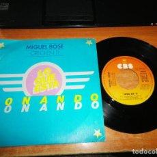 Discos de vinilo: MIGUEL BOSE CREO EN TI / DEJA QUE... SINGLE VINILO PROMO DEL AÑO 1979 CONTIENE 2 TEMAS. Lote 191206217