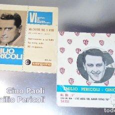Discos de vinilo: EMILIO PERICOLI & GINO PAOLI ----LOTE 2 VINILOS . Lote 191206421