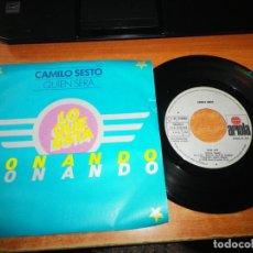 Discos de vinilo: CAMILO SESTO QUIEN SERA / CONTRA EL AIRE SINGLE VINILO PROMO DEL AÑO 1978 CONTIENE 2 TEMAS. Lote 191206928