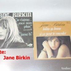 Discos de vinilo: JANE BERKIN LOTE DE 2 VINILOS . Lote 191206952