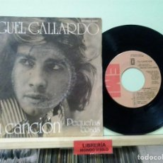 Discos de vinilo: LMV - MIGUEL GALLARDO. TU CANCIÓN, EMI 1973, REF. 1 J 006-21068 . Lote 191209158