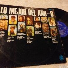 Discos de vinilo: LO MEJOR DEL AÑO 6 HISPAVOX 1969. Lote 191213753