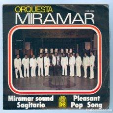 Discos de vinilo: NUMULITE S044 ORQUETA MIRAMAR SOUNG SAGITARIO PLEASANT POP SONG SINGLE. Lote 191215783
